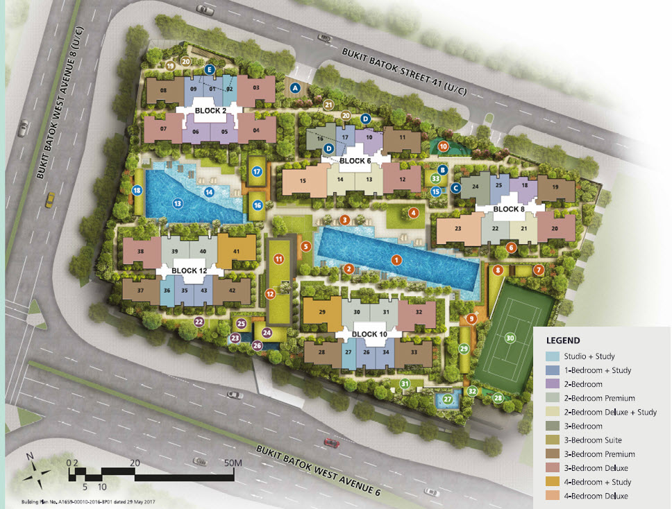 Site Plan and Facilities for Le Quest
