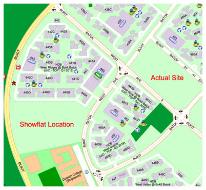 Showflat Location and Actual Site for Le Quest